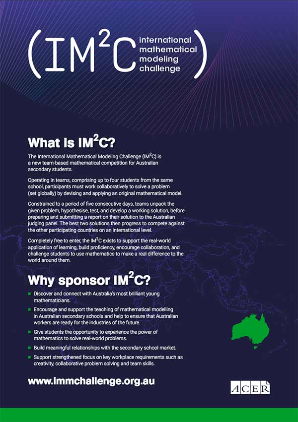 The cover page of the IM2C sponsorship prospectus